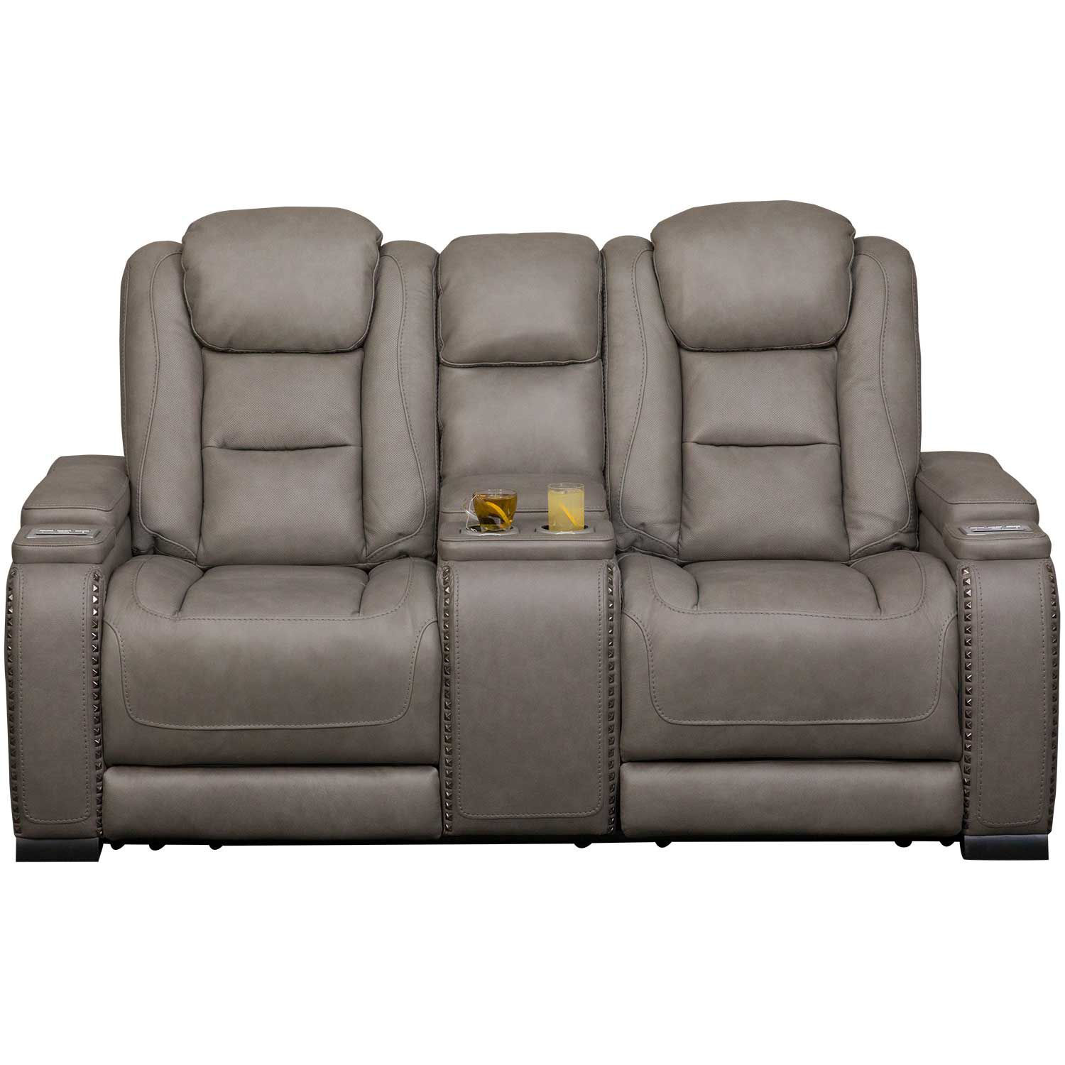 Picture of The Man-Den Power Reclining Console Loveseat