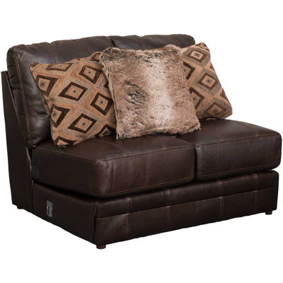Picture of Denali Italian Chocolate Leather Armless Loveseat