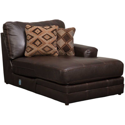 Picture of Denali Italian Chocolate Leather RAF Chaise