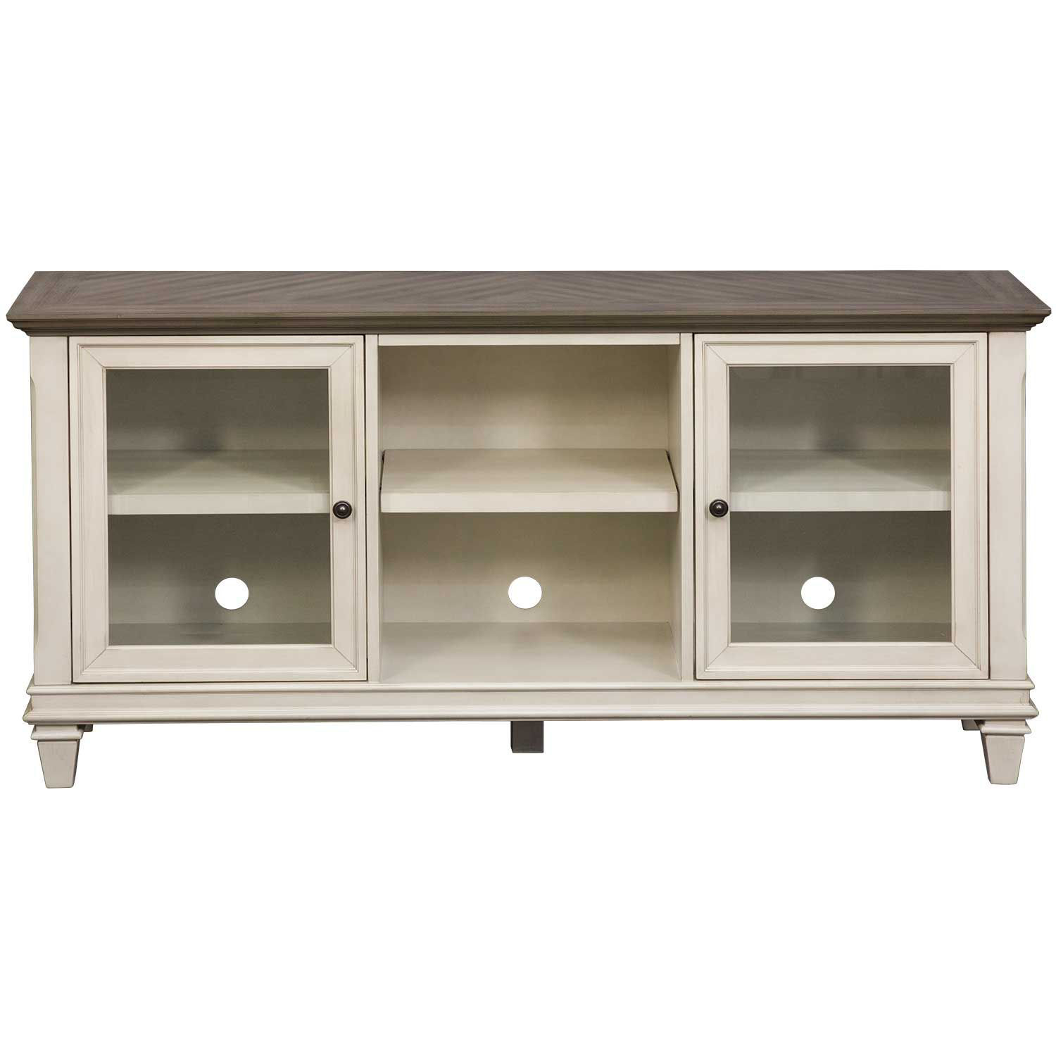 "Picture of Hartford White 63"" TV Console"