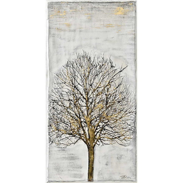 Picture of Lone Tree with Gold Accent Art