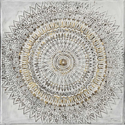 Picture of Medallion Painted Canvas