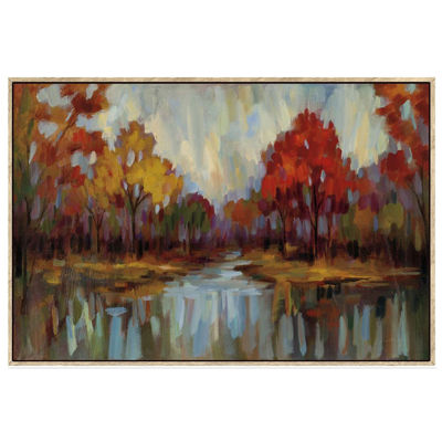 Picture of Fall Landscape with Light Frame