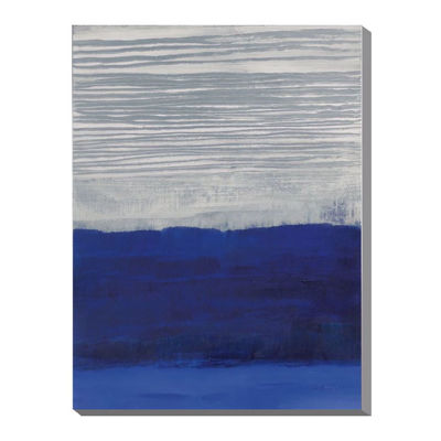 Picture of Blue White Layered Abstract