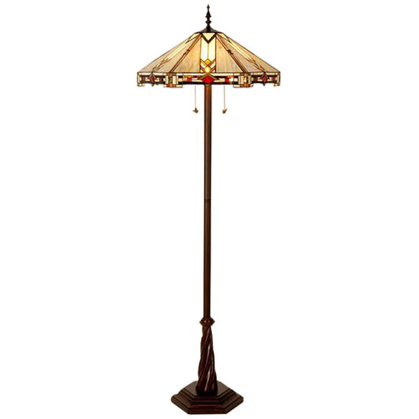 "Picture of 23"" Trident Way Tiffany Floor Lamp"