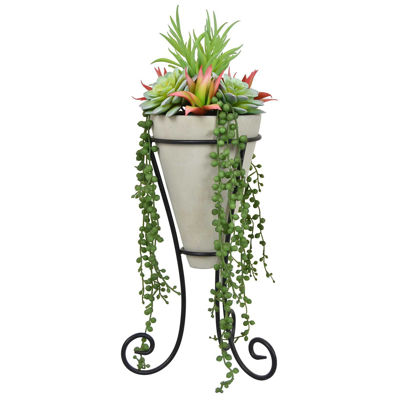 Picture of FAUX SUCCULENTS IN METAL STAND
