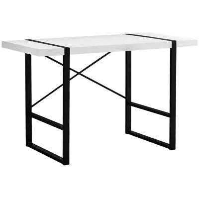 """Picture of White 48"""" Computer Desk"""