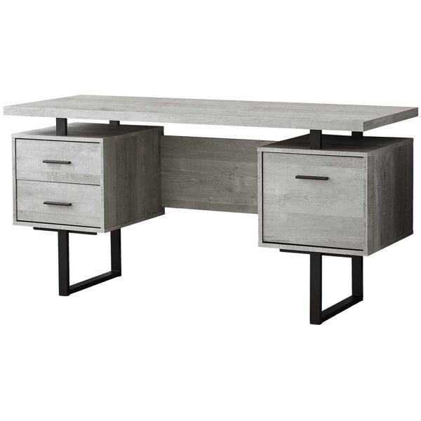 "Picture of Gray 60"" Computer Desk"