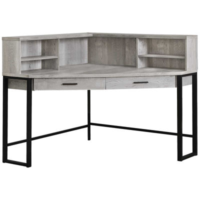 "Picture of Gray 48 "" Corner Desk"