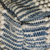 Picture of Berclair Blue and Ivory Pouf *P