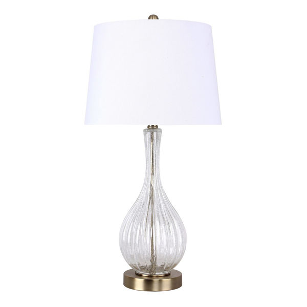 Picture of Clear Crackle Glass Table Lamp