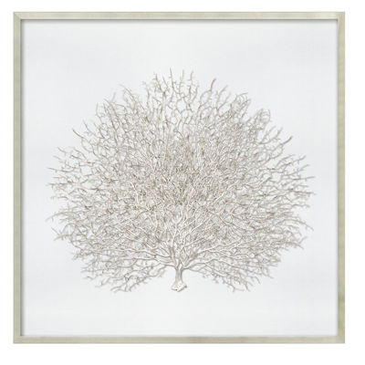 Picture of Sea Fan in Silver Frame