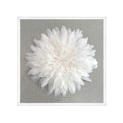 Picture of White Feathers in Plexi