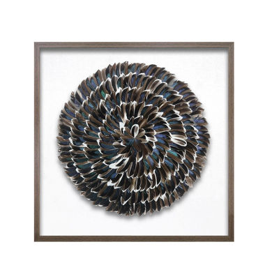Picture of Feather Medallion Framed