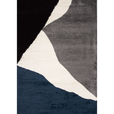 Picture of Maroq Navy Grey Ivory 8x11 Rug