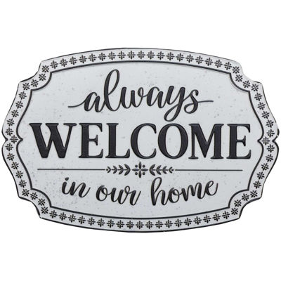 Picture of Always Welcome White Sign