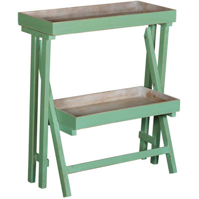 Picture of Green Wooden Standing Shelf