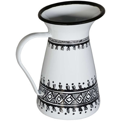 Picture of Black White Metal Pitcher
