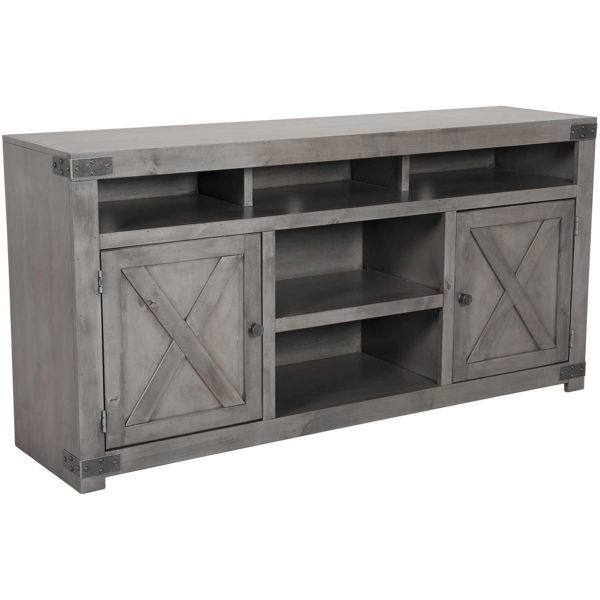 """Picture of Urban Farmhouse 65"""" Console in Smoky Grey"""