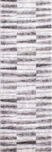 Picture of Chorus Grey White Geometric 2x8 Rug