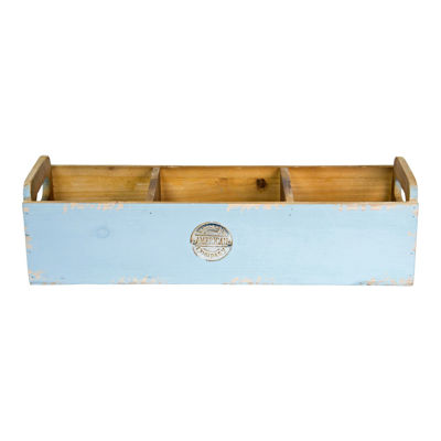 Picture of Wood Planter Blue