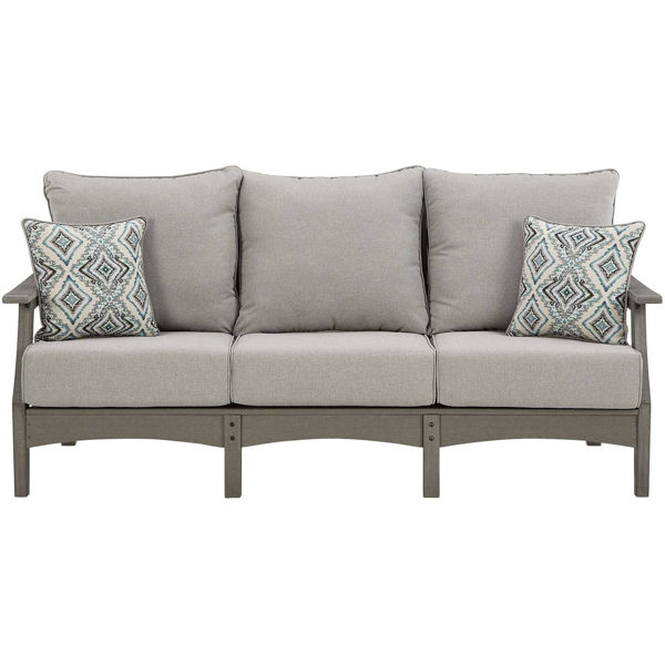 Picture of Visola Sofa with cushions and 2 throw pillows