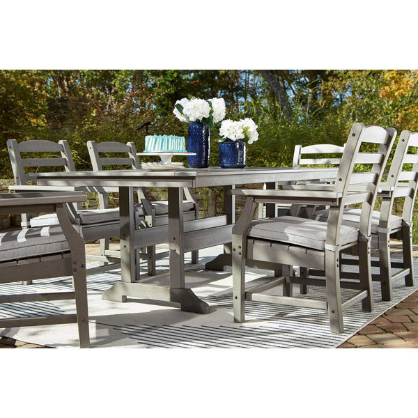 Visola Dining Arm Chair With Cushions, Ashley Furniture Outdoor Dining Chairs