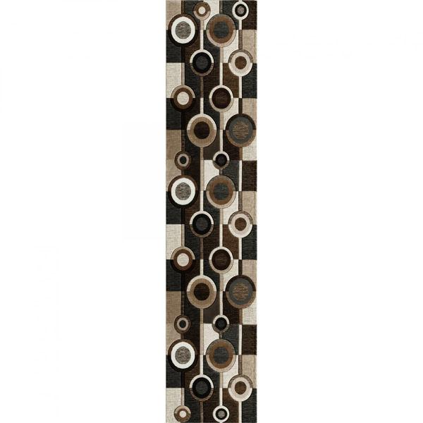 Picture of Alburnett Brown Circles 2x7 Rug