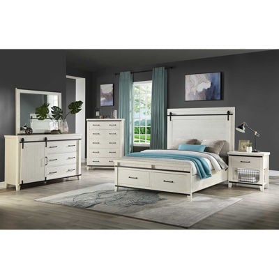 Picture of Dakota 5 Piece Bedroom Set Queen Bookcase Storage