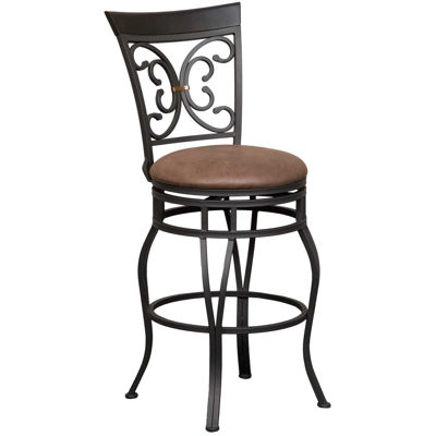 """Picture of Elise 30"""" Armless Swivel Barstool"""