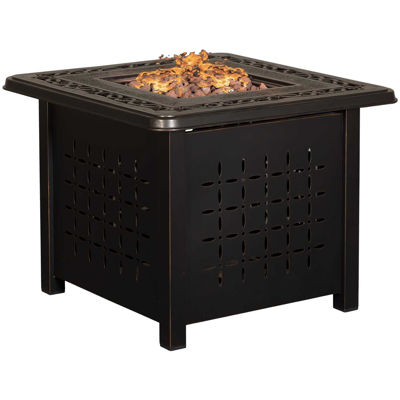 """Picture of Zeal 32"""" Square Aluminum Fire Pit"""