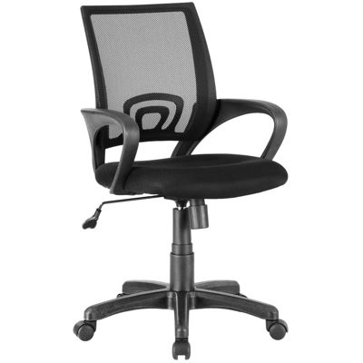 Picture of Black Mesh/Fabric Office Chair 1121-BK