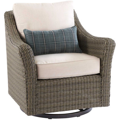 Picture of Oak Grove Swivel Rocker with cushions