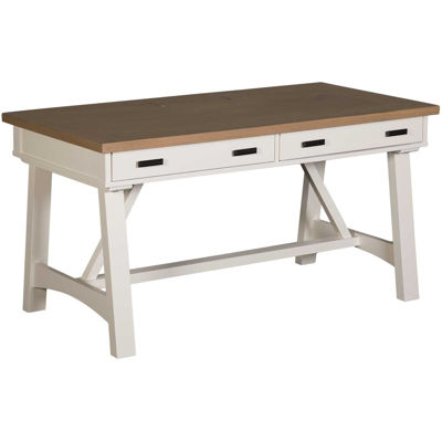 "Picture of Americana Modern 60"" White Writing Desk"