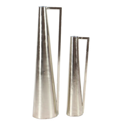 Picture of Set 2 Nickel Contemporary Vase