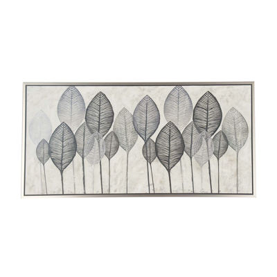 Picture of Framed Canvas Leaves