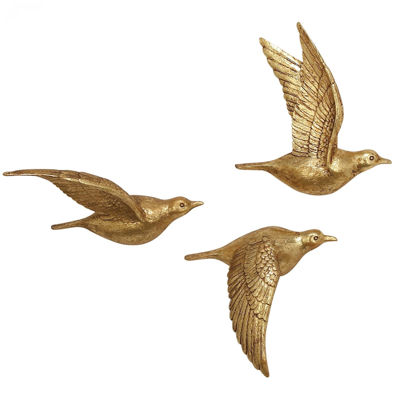 Picture of Set of 3 Bird Wall Decor