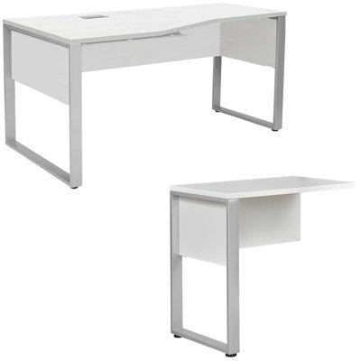 Picture of Fontana Crescent Return Desk, White