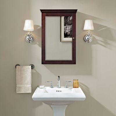 Picture of Lydia Mirrored Wall Cabinet, Espresso *D