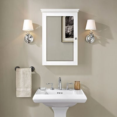 Picture of Lydia Mirrored Wall Cabinet, White *D