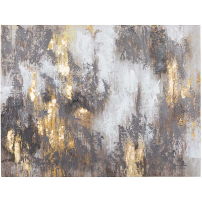 Picture of Gold Mocha Abstract Canvas