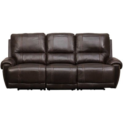 Picture of Drew Brown Leather Power Reclining Sofa