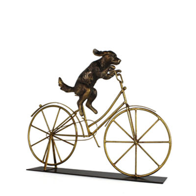 Picture of Dog on Bicycle Decor