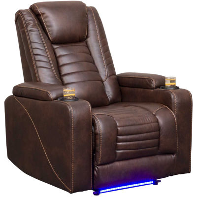 Picture of Black Power Recliner with Power Adustable Headreas