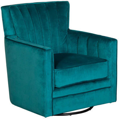 Picture of Loden Peacock Teal Swivel Chair