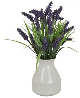 Picture of Faux Flower Pot/White Vase