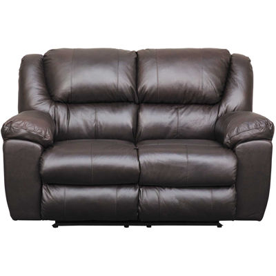 Picture of Italian Leather Rocking Reclining Loveseat