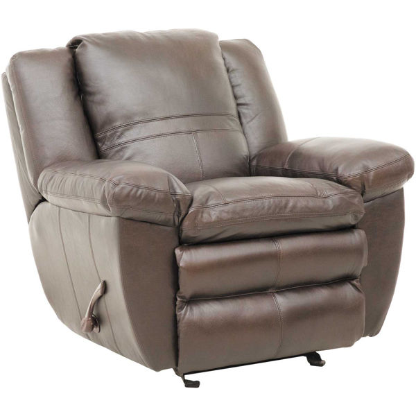 Picture of Chocolate Italian Leather Glider Recliner