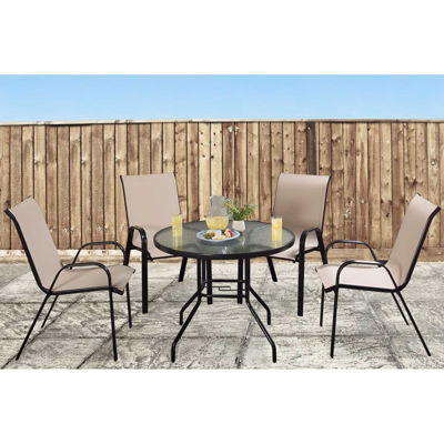 Picture of Beverly 5 Piece Set Round Table Tan Chairs