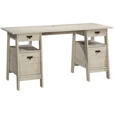 Picture of Trestle Chalked Chestnut Executive Desk